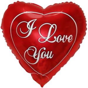Kleine I Love You ballon