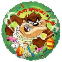 Happy Birthday ballon Taz !