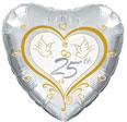25 Jaar Getrouwd Zilver Ballonnen