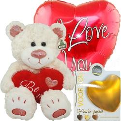 Combi deal: knuffel, ballon & bonbiance chocolade