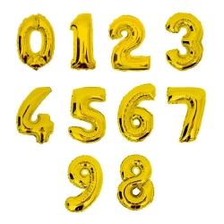 Cijfer Ballon Goud