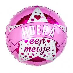Ballon Hoera een Meisje Ballonnen